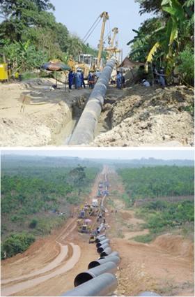 Long-distance gas pipeline SSWJ (Southern Sumatra/Western