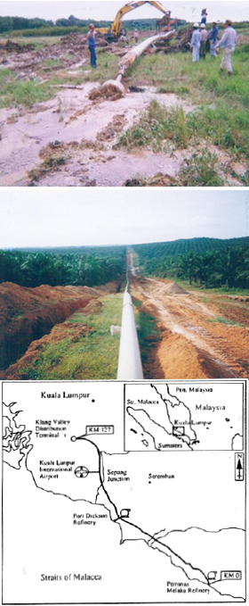 Long-distance pipeline MPP (Malacca, Malaysia / Port Dickson, Kuala